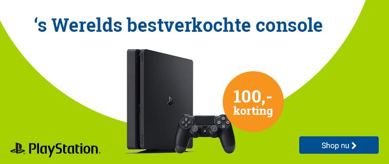 Playstation 100,- Korting