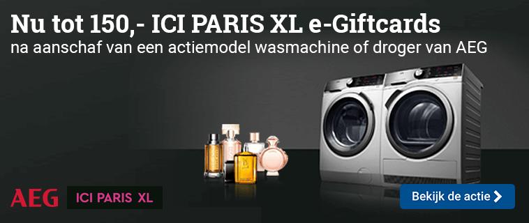 AEG Actie ICI PARIS XL giftcard