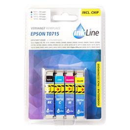 Inkline cartridge INE0715 Epson T0715 4 Pack