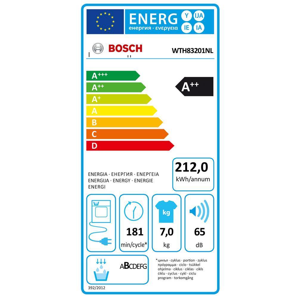 Bosch warmtepompdroger WTH83201NL