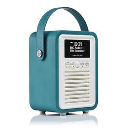 ViewQuest Retro Mini - Bluetooth Spealer met DAB+ radio - Blauw/Groen