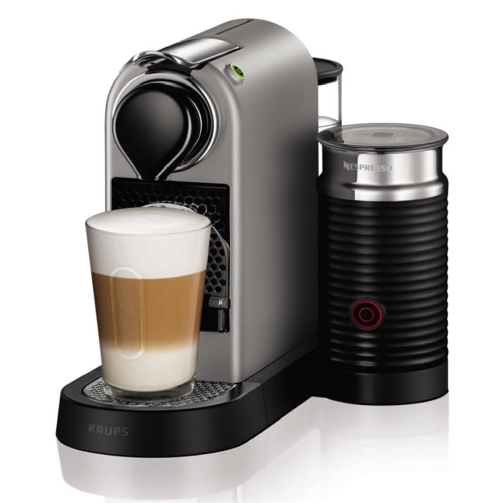 krups nespresso apparaat xn760b citiz milk zilver. Black Bedroom Furniture Sets. Home Design Ideas