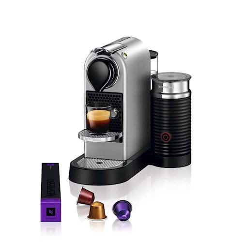 Nespresso Krups koffieapparaat CitiZ & Milk XN760B (Zilver)