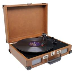 Soundmaster platenspeler PL580BR Bruin