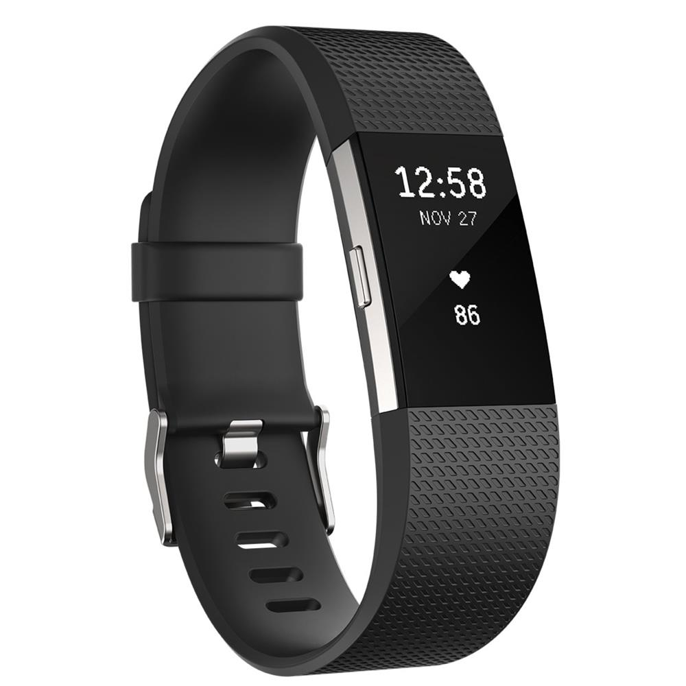 Fitbit Charge 2 Zwart (Large)