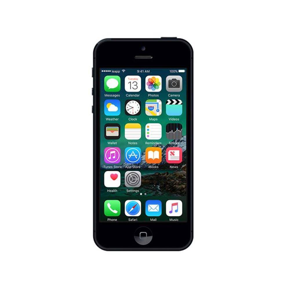 leapp smartphone iphone 5 16gb zwart refurbished. Black Bedroom Furniture Sets. Home Design Ideas