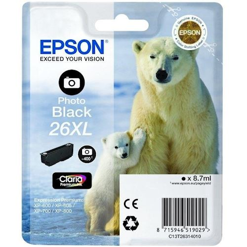 Epson cartridge 26XL Zwart