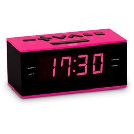 Bigben wekkerradio RR60RSN Zwart Roze