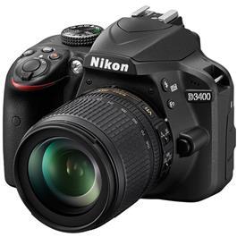 Nikon D3400 18 105mm incl. 16GB SD kaart tas