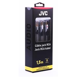 JVC analoge audiokabel JACK 3.5MM 2RCA 1.5M