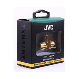 JVC antennekabel COAXIAL ADAPTOR T 1 X FEMALE 2 X MALE GOLD