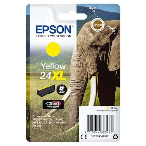 Epson cartridge 24XL Claria Photo HD Ink Geel