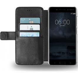 Azuri wallet case met transparent backcover Zwart -