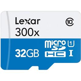 Lexar microSDHC High Speed 32GB zonder Adapter Class 10 300x