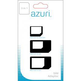 Azuri AZURI SIMCARD ADAPTOR 3 IN 1 (SIM MICROSIM NANOSIM) (AZSIMCARDADAPT3IN1)