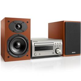 Denon microset D-M41 DAB+ (Zilver/Cherry wood speakers)