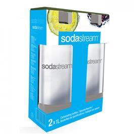 Sodastream literflessen Twinpack Grijs
