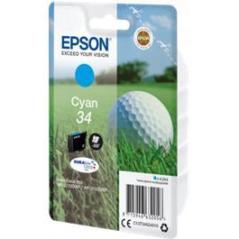 Epson cartridge Golfbal T3464 Cyaan