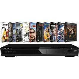 Sony Dvd Speler Sr370 Zwart + 10 Films