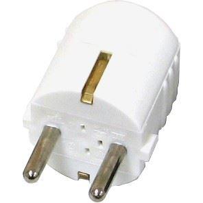 Electrobot randaarde stekker (wit)