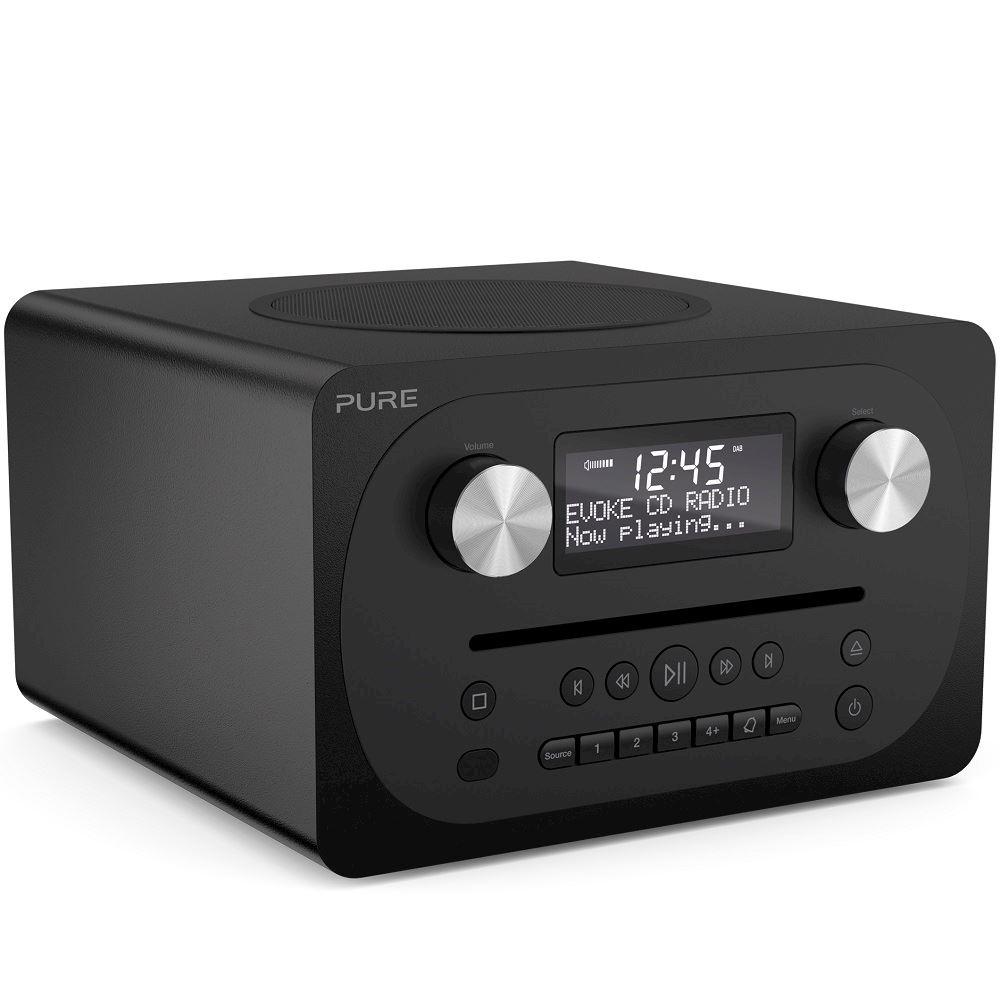 pure draagbare radio evoke c d4 zwart. Black Bedroom Furniture Sets. Home Design Ideas