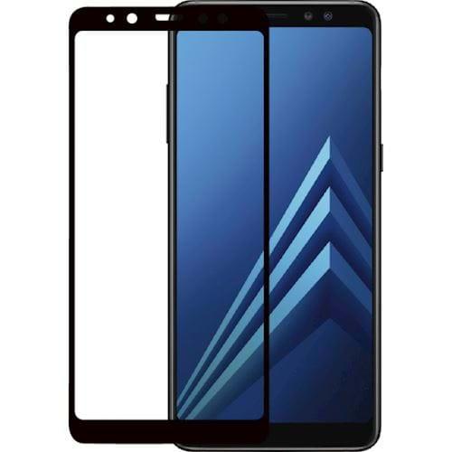 Azuri Tempered Glass flatt RINOX ARMOR zwart voor Samsung A8