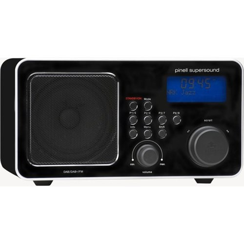 Pinell DAB radio SUPERSOUND DAB+ ZWART