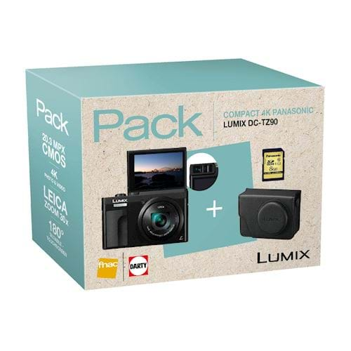 Panasonic compact camera LUMIX TZ90 INCL. TAS EN 8GB SD KAART