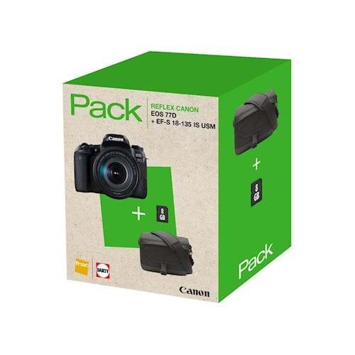 Canon spiegelreflexcamera EOS 77D+18 135 IS USM INCL. TAS EN 8GB
