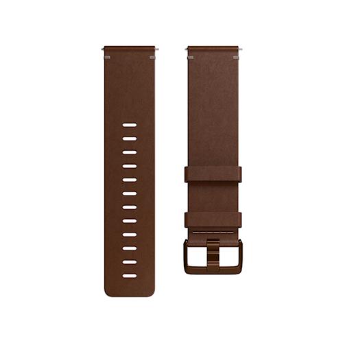 Fitbit Versa leren polsband maat Large Bruin