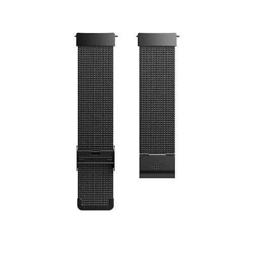 Fitbit Versa polsband Metal Mesh Zwart