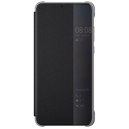 Huawei P20 view flip cover Zwart