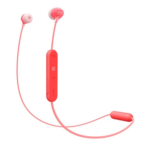 Sony in ear draadloze hoofdtelefoon WI C300 Rood