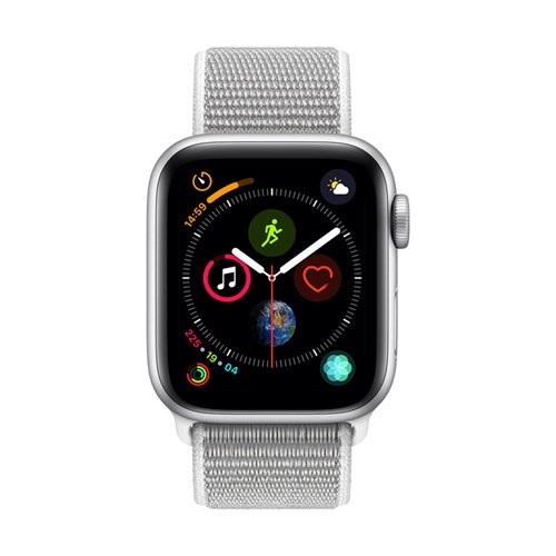 Apple smartwatch Serie 4 GPS 40 mm (Zilver) Geweven Sportband
