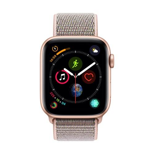 Apple smartwatch Serie 4 GPS 44 mm (Goud) Geweven Sportband