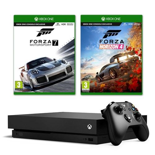 Microsoft gameconsole Xbox One X 1TB Forza Bundel (zwart)