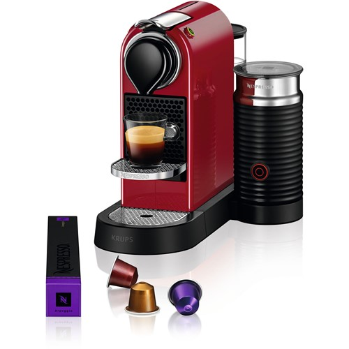 Nespresso Krups koffieapparaat CitiZ Milk XN7615 Rood