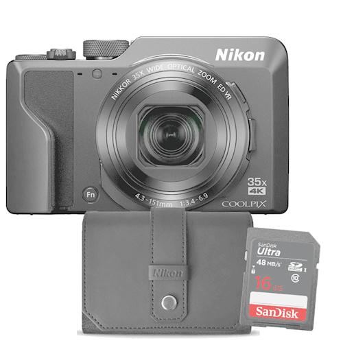 Nikon compact camera COOLPIX A1000 zwart Incl. Tas 16GB