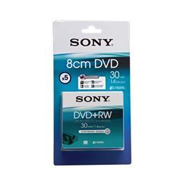 Sony 8 cm DVD+RW schijven DPW30 1,4 GB (5 stuks)