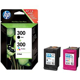 HP cartridge voordeelpak 300 Zwart en kleur