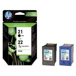 HP cartridge voordeelpak PACK 21 BK 22 CL