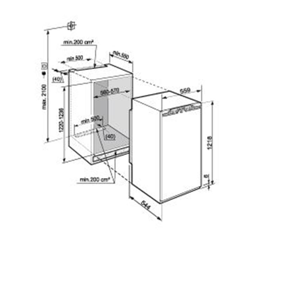 liebherr koelkast inbouw ikbp2354 2. Black Bedroom Furniture Sets. Home Design Ideas