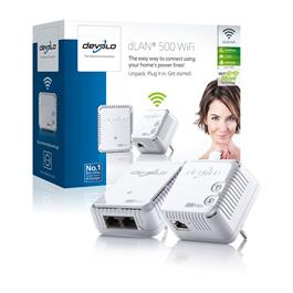 Powerline homeplug starterkit dLAN 500 met wifi