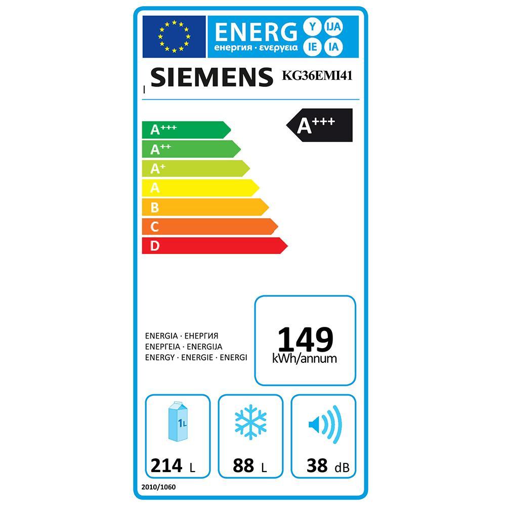 Siemens IQ500 koelvriescombinatie KG36EMI41