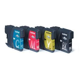 Brother cartridge voordeelpak LC1100 BK 3CL kleur