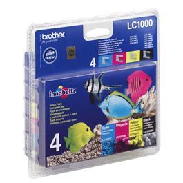 Brother cartridge voordeelpak LC1000 XL BK 3CL