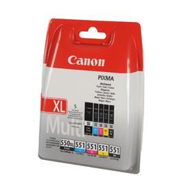 Canon cartridge voordeelpak PG550CL551 PG 550 XL 4x CL 551