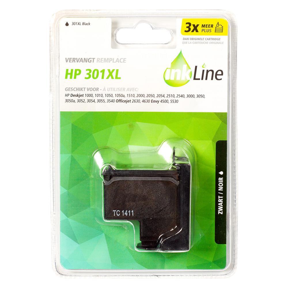 Inkline voordeelpak INH301BK (zwart) voor HP 301 serie