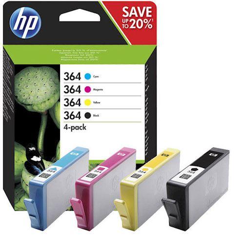 HP cartridge voordeelpak 364MULPACK zwart kleur