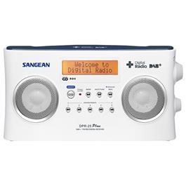 Sangean DAB radio DPR-25+ WH